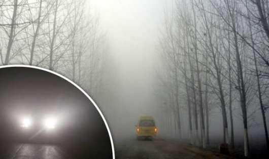 Водіння автомобіля в тумані