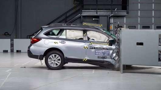 Топ-10 нових краш-тестів IIHS на боці переднього пасажира