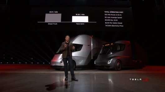 Тесла показала електричний вантажівка