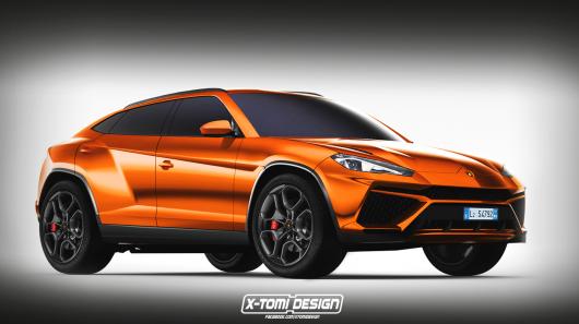 Рендеринг фото першого позашляховика Lamborghini Urus
