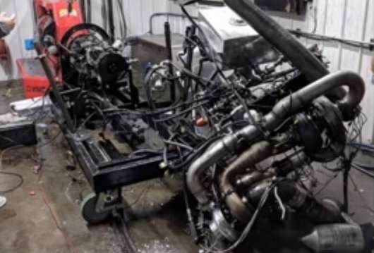 Відео: дизельний мотор потужністю 2200 л. с. вибухнув при випробуваннях