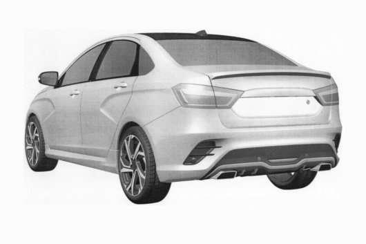 АвтоВАЗ опублікував патентні зображення спортивної Vesta