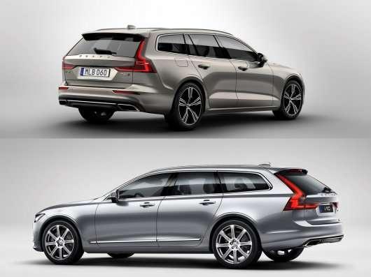 Порівнюємо універсали Volvo V90 і новий Volvo V60