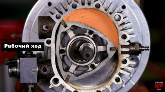 Відео, в якому показано, як працює роторний двигун зсередини