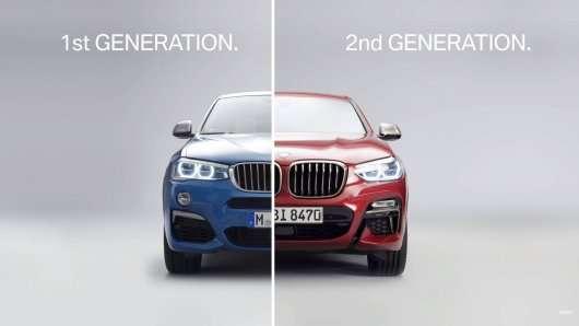 Компанія BMW показала на відео зміни в дизайні старого і нового кросовера Х4